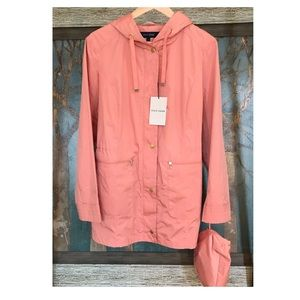 Cole Haan Tangerine Packable Hooded Jacket